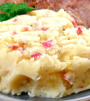 Mashed Potatoes with Bacon Bits